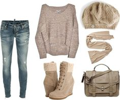 Atención a todas las bloggeras adolescentes! que este look os va a encantar!   Os gusta? un jersey de lana desnivelado mas corto por delante...