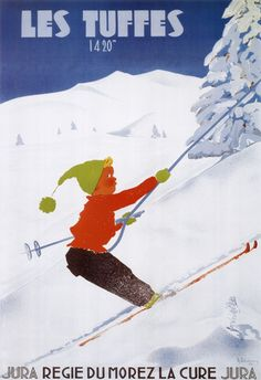 Les Tuffes ski poster