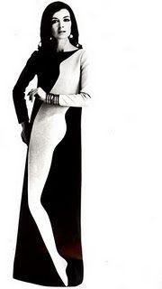 Such a classy trompe l'oeil. Yves Saint Laurent dress, 1960s
