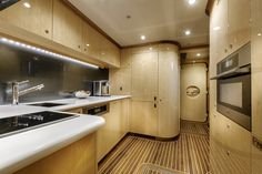 "Crew kitchenette onboard the incredible private superyacht ""Zenith"". Designed by ID Studios Pyrmont"