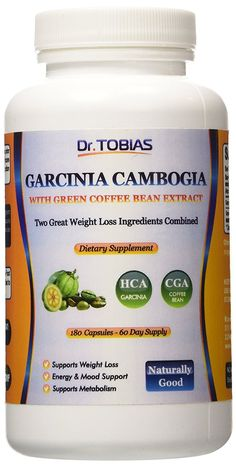 Dr. Tobias Garcinia Cambogia Plus Green Coffee - Two Great Weight Loss Supplements in One (180 caps) É ** Stop everything and read more details here! : Garcinia cambogia