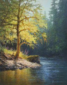 Imágenes Arte Pinturas: Vistosos Paisajes Boscosos, Pintor Americano John Paul…