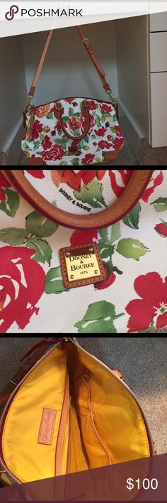 Floral print Dooney & Bourke Purse! Barely used! Great condition! Beautiful and unique! Dooney & Bourke Bags Shoulder Bags