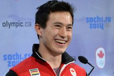 Figure skater Patrick Chan smiles during the announcement of the Canadian Olympic figure skating team in Ottawa. (Jan. 12, 2014)