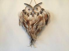 Owl Dreamcatcher  owl dream catcher large by MyDreamcatcherLane