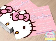 Convite Hello Kitty | Conviteria Mimos da Lola | Elo7