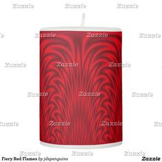 Fiery Red Flames Pillar Candle
