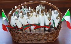 Silverware Set Up On napkin | Napkin and Flatware Roll-ups
