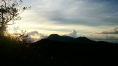 shilouette of lokon mountain from top of mahawu mountain...afternoon..#damniloveindonesia