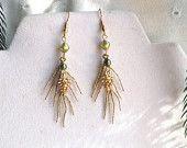 Pine Cone Earrings / Pine Branch Earrings