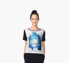 'Tear It! ~ Snowbaby Line' Chiffon Top by We ~ Ivy Presents For Friends, Line S, Graphic Shirts, Mode Inspiration, Chiffon Tops, Ivy, Snowman, Classic T Shirts, Fitness Models