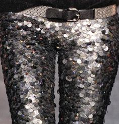 Isabel Marant Pour H&M Women Sequin Glitter Leggings Pants in Eu38 US8 (medium)