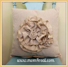 Mom 4 Real: Dropcloth Pillows