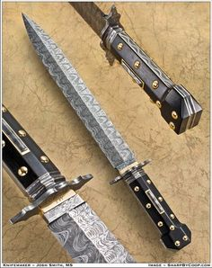 Beautiful coffin handled damascus bowie