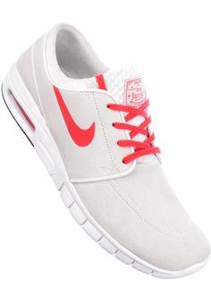 Nike-SB Stefan-Janoski-Max-L, Shoe-Men, summitwhite-universityred #ShoeMen #MenClothing #titus #titusskateshop