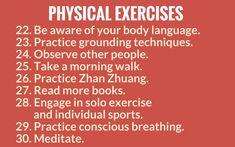 self awareness activties - physical