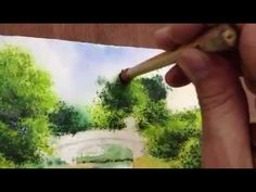 How to paint view in watercolor Part2