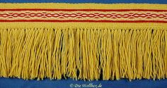 Fringed Hallstatt card-weaving, by die-wollhex.de & other beautiful patterns & pricing