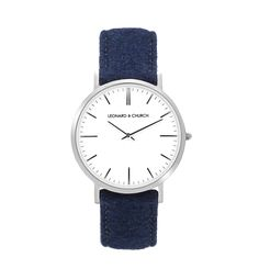 leather watch  West Navy – Leonard & Church
