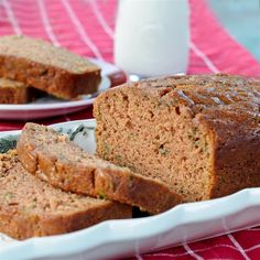 Healthy eating doesn't mean you have to skip dessert. Get our healthier cheesecake recipes, fruit desserts, lightened up brownies and more from Food Network. Yogurt Pound Cake Recipe, Pound Cake Recipes, Yogurt Cake, Food Network Recipes, Cooking Recipes, Cooking Food, Desserts Sains, Zucchini Bread Recipes, Bake Zucchini