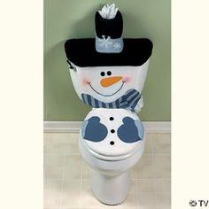 Snowman Bathroom Sets Set