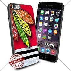 Chicago Blackhawks NHL, WADE1292 Hockey iPhone 6 4.7 inch Case Protection Black Rubber Cover Protector