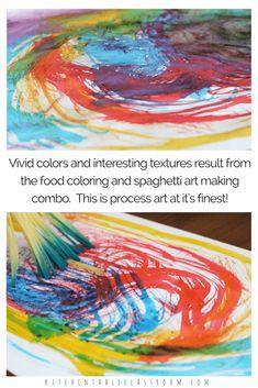 Spaghetti Paintbrushes- Process Painting Fun