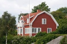 Astrid Lindgrens sommerhouse in Furusund Sweden