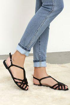 22306a64fb016e Ipanema Black T-Strap Sandals
