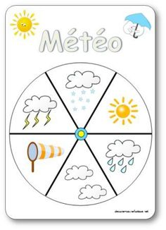 La roue de la météo images Play School Activities, Seasons Activities, Infant Activities, Classroom Activities, Kindergarten Lessons, Kindergarten Classroom, How To Speak French, Learn French, French Worksheets