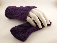 Fingerless Gloves, Hand Knit hand warmers, Fashion  Wrist Warmers. $21.00, via Etsy.