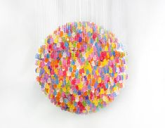 7fa6bf87c61 Gummy Bear Chandelier - over 3000 bears are strung. Design De Produto