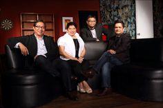 The new leadership team at Havas Media Ortega in the Philippines - Jos Ortega, Hermie de Leon, Tonypet Sarmiento and Eduardo Mapa