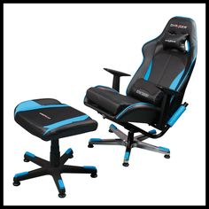 Dxracer video game chair KC57NB $499 with free foot rest.#HoJuGame #iphone #pinkdonutgame