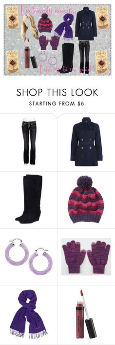 """""""Christmas Shopping Hogsmead"""" by angeldeava ❤ liked on Polyvore featuring Rock Revival, Burberry, SuperTrash, People Tree, Lanvin and Laura Geller"""