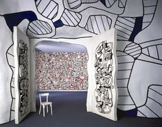 Cabinet logologique - Jean Dubuffet 1967-1969, epoxy resin and concrete with polyurethane paints
