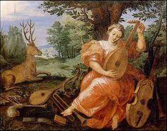 Allegory of listening by Jan Van Balen, XVII century