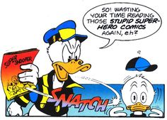 """Donald Duck in """"Super Snooper Strikes Again"""", 1992 by Don Rosa [D 91076] from """"Donald Duck Adventures The Barks / Rosa Collection] vol. 2"""