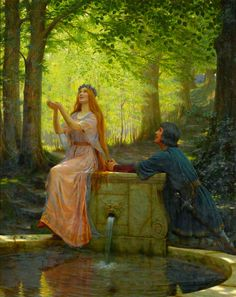 Edmund Blair Leighton (1852 – 1922, English painter) Pelleas and Melisande