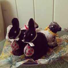 Easter cake -> bunny & lamb