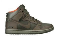 "new concept 5d07e 18e26 Here is a look at the Nike SB Dunk High QS ""Kozik"" Sneaker Inspired by  Military style colors, This Nike SB Dunk High is reminiscent of the ."