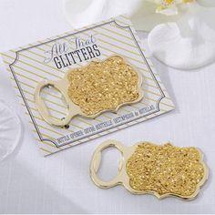 All That Glitters Gold Glitter Bottle Opener (Kate Aspen 11214NA) | Buy at Wedding Favors Unlimited (https://www.weddingfavorsunlimited.com/all_that_glitters_gold_glitter_bottle_opener.html).
