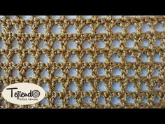 Crochet knit # 9 for baby scarves and blankets - videos de crochet 2 - Tunisian Crochet, Learn To Crochet, Crochet Stitches, Knitting Videos, Crochet Videos, Lace Patterns, Crochet Patterns, Crochet Doll Dress, Crochet Diagram