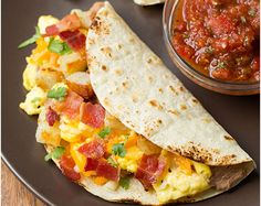 Pin for Later: 21 Seriously Yummy Egg and Cheese Dishes to Make Your Morning Instantly Better Breakfast Tacos With Fire-Roasted Tomato Salsa Get the recipe: breakfast tacos with fire-roasted tomato salsa Breakfast Tacos, Breakfast Dishes, Best Breakfast, Breakfast Recipes, Breakfast Cooking, Breakfast Ideas, Homemade Breakfast, Breakfast Healthy, Roasted Tomato Salsa