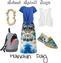 A fashion look from May 2012 featuring petite tops, Monki and STELLA McCARTNEY. Browse and shop related looks. School Spirit Days, Student Council, Petite Tops, Comfy Casual, School Ideas, Homecoming, Stella Mccartney, Hawaiian, Fashion Looks