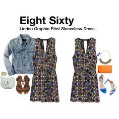 """Linden Graphic Print Sleeveless Dress"" by katrinalake on Polyvore"