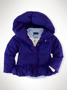 purple down coat