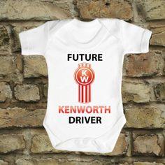 Future KENWORTH Driver Brand New Baby Romper by FunnyBooShirts, $19.99