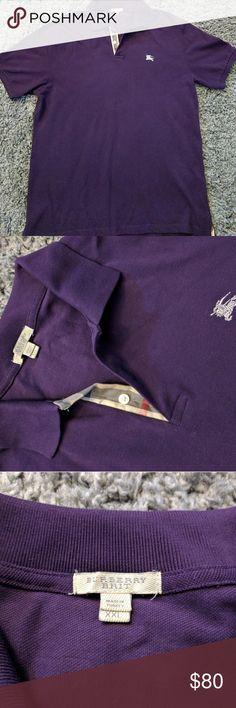 Burberry Brit Polo Burberry Men's polo. Purple color. Size XXL. Excellent condition.  Let's me a deal! Burberry Shirts Polos