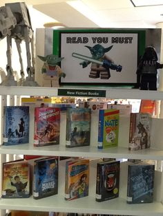 Star Wars display.  Come to our Star Wars program November 8th at 3pm